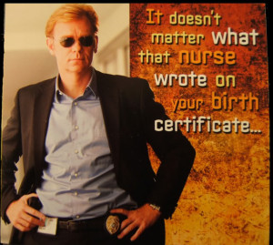 Talking Horatio Caine Card: Front