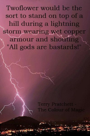 Discworld quote by Terry Pratchett, Twoflower - The Colour of Magic ...
