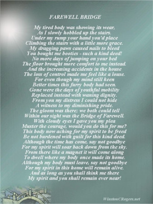 Death Poems | Pet Loss Sympathy and Poetry Cards