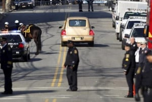 Pictures from outside of Whitney Houston's funeral in Newark, NJ