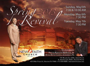 Spring Church Revival Flyer