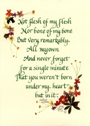 Adopted Child's Poem : Cards and Prints : Baby Blessings