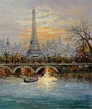 Eiffel Tower Oil Painting Canvas