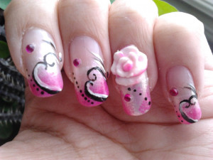 Nail Art For Valentines Day NailArt Valentines Day Nail Art. Quotes ...