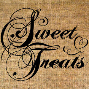 SWEET TREATS Quote Words Saying Romance Digital Collage Sheet Download ...