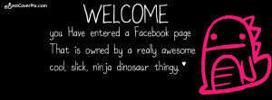 Welcome To Facebook Timeline Cover Photo