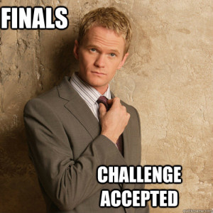 Exams – challenge accepted.""