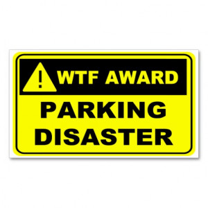 Bad Parking Note Card for Bad Drivers Business Card Templates