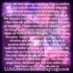 Seeing Everything From A Positive Way..