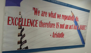 Aristotle quote at Ark Academy