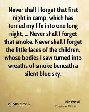 ... night in camp which has turned my life into one long night never shall