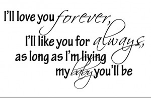 LL LOVE YOU FOREVER Vinyl Wall Decal Sticker Cute Baby Quotes ...