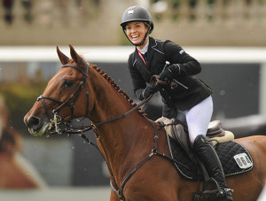 Ashlee Bond and Cadette 7 in the Esso Challenge Cup at Spruce Meadows ...