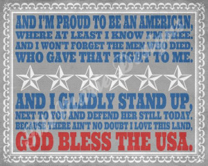 ... has to be one of the best by Lee Greenwood. You have to love America
