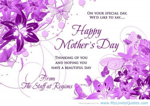 ... Mother's Day, Thinking Of You And Hoping You Have A Beautiful Day