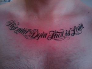 Chicano Quotation tattoo By