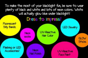 ... Glow Party- The BEST blog entry on planning a glow party! – The