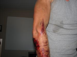 Dirt Bike Shock Tattoo