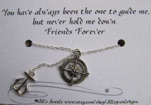 Anchor Quotes Friendship Best friend compass and anchor