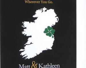 Irish Wedding Gift: Irish Blessing Ideas Quote on Personalized State ...