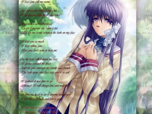 13 Beautiful poems with anime pictures for share facebook