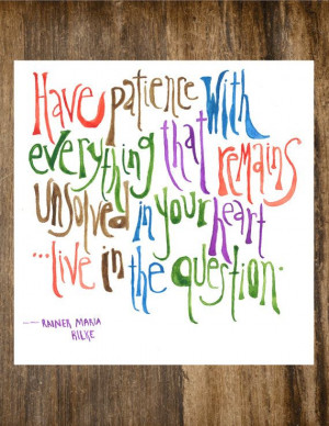 8x10 Rainer Maria Rilke Watercolor Print Quote by MeltingPotLove, $10 ...