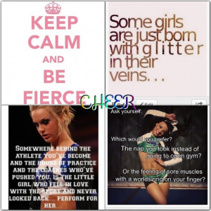 Cute Cheer Quotes For Coaches Cute collage of cheerleading