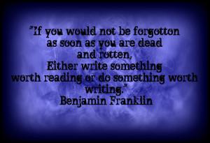 Ben Franklin's Words