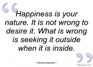 happiness is your nature ramana maharshi