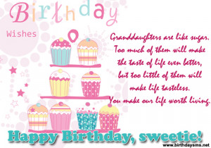 verse a granddaughter granddaughter happy birthday birthday wishes for ...