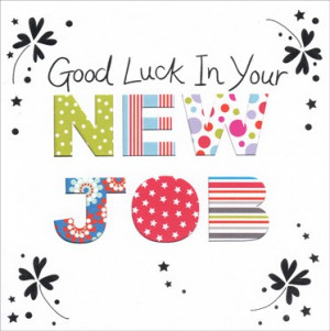 ... card new job inside and out 375 2 Good Luck In New Job Quotes