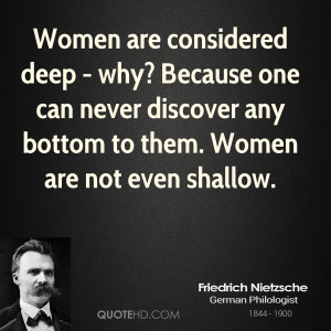 Friedrich Nietzsche Women Quotes