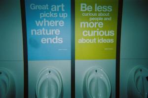 Tate Britain restroom, Marc Chagall quotes - (c) François Soulignac ...