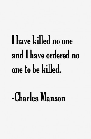 Charles Manson Quotes & Sayings