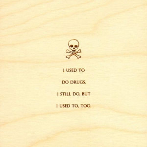 Mitch Hedberg Quotes Carved on Wood