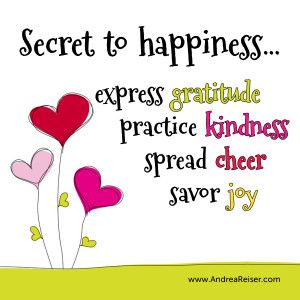 Gratitude Kindness Cheer Joy