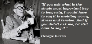 George burns famous quotes 1