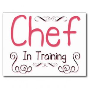 Chef in Training Postcard