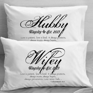 ... Pillow Cases Wife Husband Wedding, Anniversary gift idea for couples