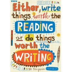 LINOCUT PRINT - Benjamin Franklin - Either Write something worth ...