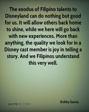 Bobby Garcia - The exodus of Filipino talents to Disneyland can do ...