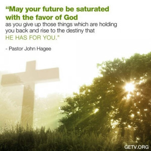 Saturated with the favor of God