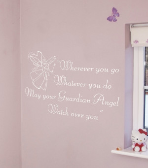... Marketplace / Guardian Angel Wall Quote by Nutmeg Wall Art Stickers