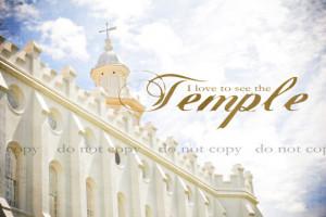 LDS Temple Fine Art Print Saint George Utah