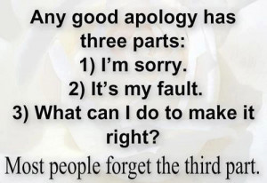 Apologize Quotes To a Lover