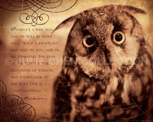 ... this And White Graffiti Print Owl Wisdom Inspirational Quote picture
