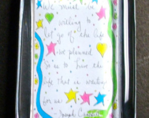 Joseph Campbell Glass Paperweight Q uote