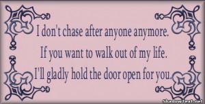 Don't Chase Anyone