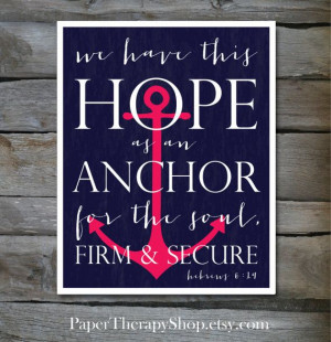 Anchor Quotes From The Bible Hope as an anchor bible verse