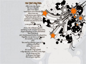 The Long Poems For Happy New Year Holiday By The Nice Words.